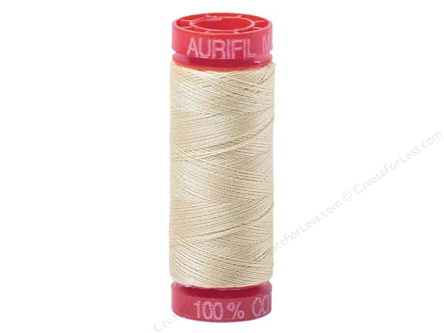Aurifil Mako Cotton Quilting Thread 12 wt. #2310 Light Beige 54 yd.