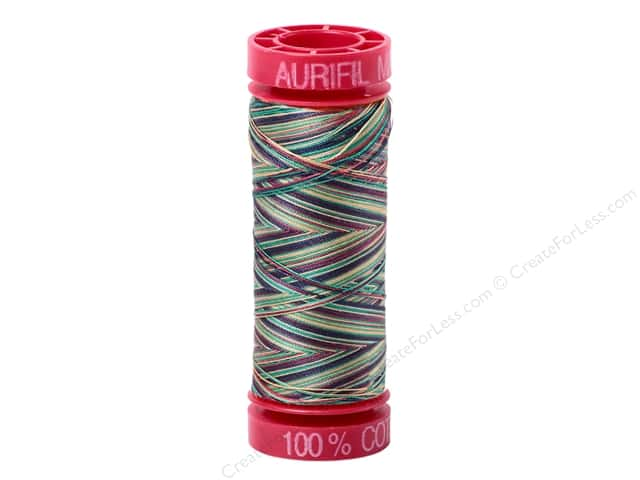 Aurifil Mako Cotton Quilting Thread 12 wt. #3817 Varigated Marrakesh 54 yd.