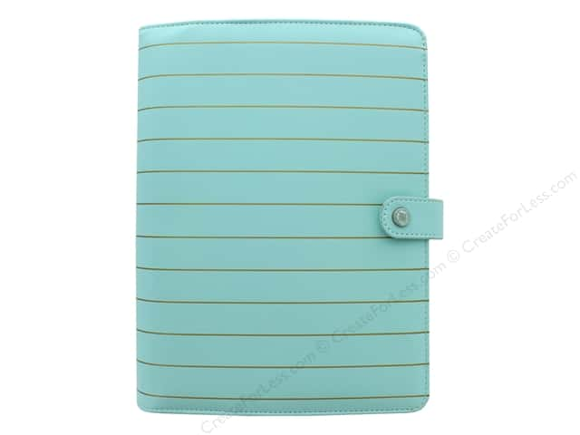 Webster's Pages Color Crush Planner Kit A5 Ice Blue With Gold Stripe Book Wrap