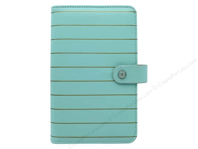 Webster's Pages Color Crush Planner Kit Personal Ice Blue With Gold Stripe Book Wrap