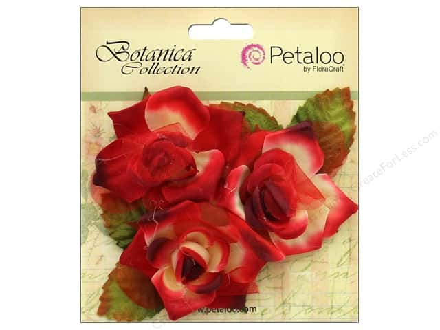Petaloo Botanica Collection Fairy Rose Bud Red/Burgundy