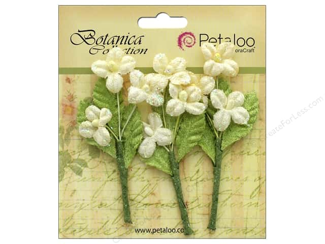 Petaloo Botanica Collection Fairy Blossom Branch Ivory