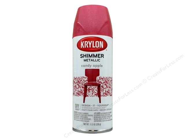 Krylon Shimmer Metallic Spray Paint 11.5 oz. Candy Apple
