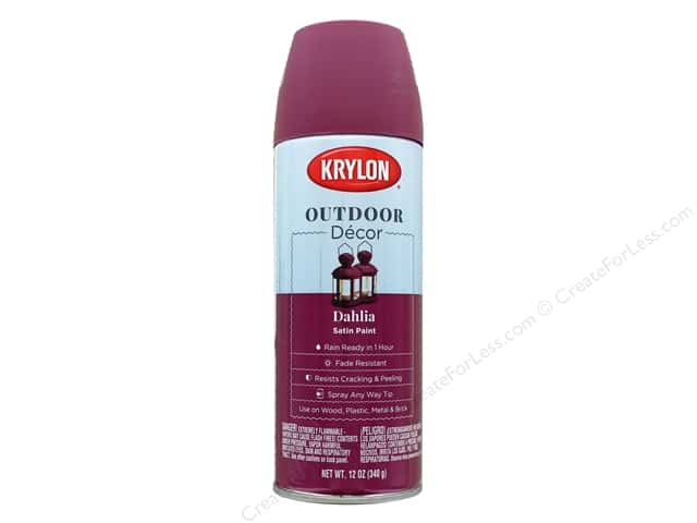 Krylon Outdoor Decor Paint 12 oz. Dahlia