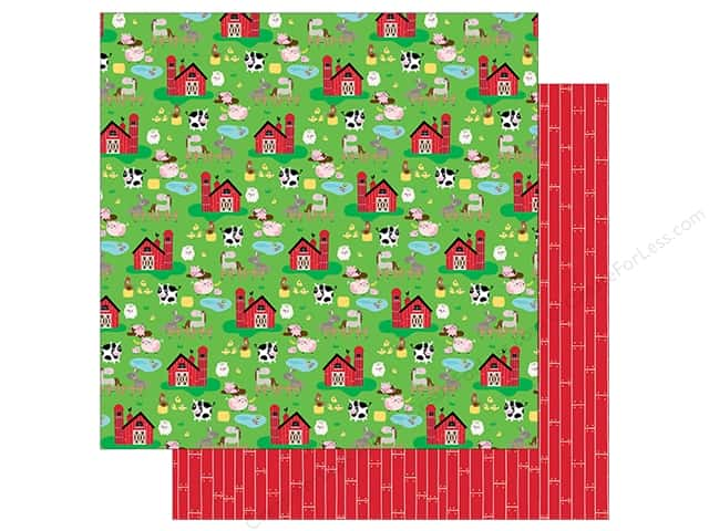 "Bella Blvd Collection Barnyard Paper 12""x 12"" On The Farm (25 pieces)"