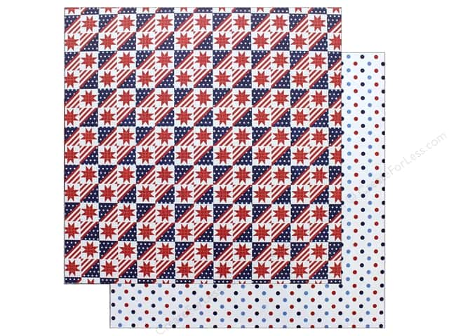 "Photo Play Collection Live Free Paper 12""x 12"" Stars & Stripes (25 pieces)"