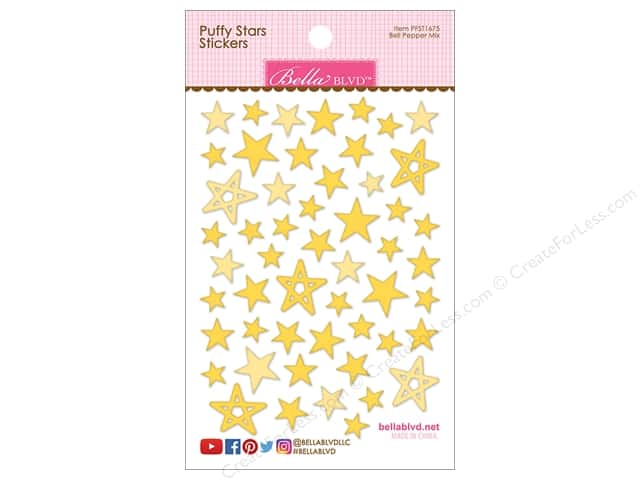 Bella Blvd Sticker Puffy Stars Bell Pepper