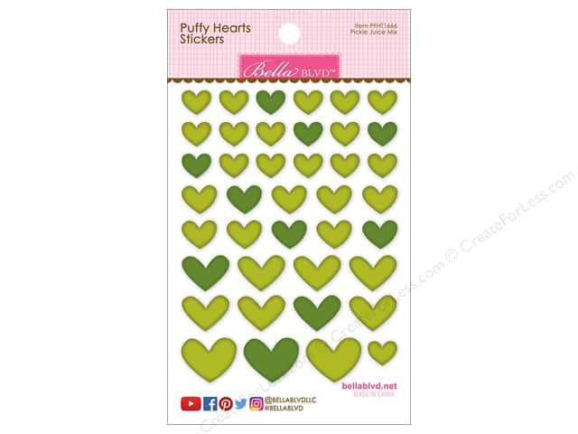 Bella Blvd Sticker Puffy Hearts Pickle Juice