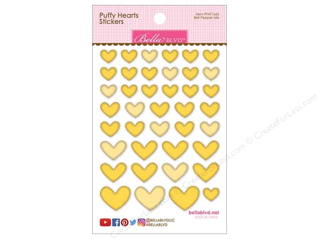 Bella Blvd Sticker Puffy Hearts Bell Pepper