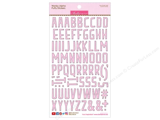 Bella Blvd Collection Wonky Sticker Puffy Alpha Cotton Candy