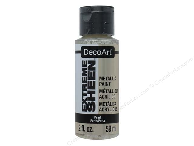 Decoart Extreme Sheen Metallic Paint 2 oz. Pearl