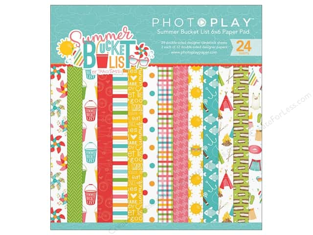 """Photo Play Collection Summer Bucket List Paper Pad 6""""x 6"""""""