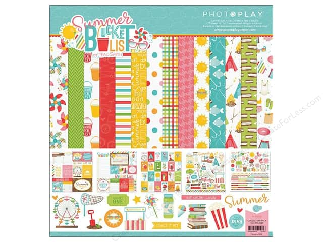 """Photo Play Collection Summer Bucket List Collection Pack 12""""x 12"""""""