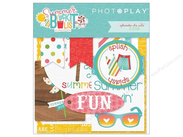 Photo Play Collection Summer Bucket List Ephemera Die Cuts
