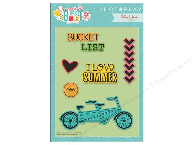 Photo Play Collection Summer Bucket List Etched Dies Icon