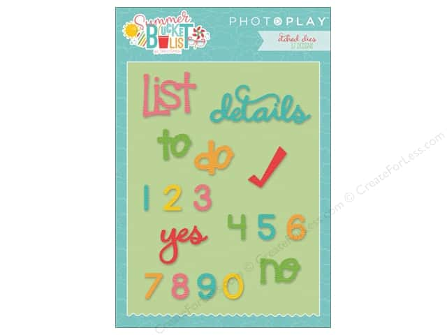Photo Play Collection Summer Bucket List Etched Dies Planner