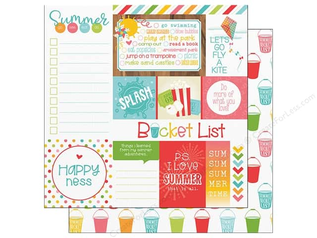 "Photo Play Collection Summer Bucket List Paper 12""x 12"" Fun Day (25 pieces)"