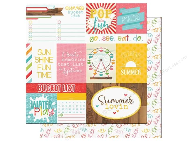 "Photo Play Collection Summer Bucket List Paper 12""x 12"" Confetti (25 pieces)"