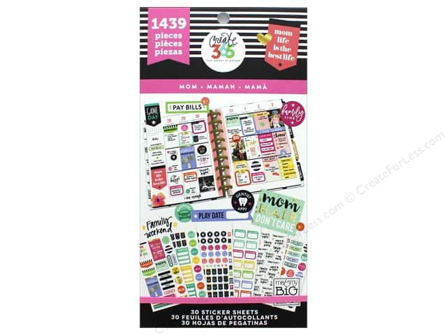 Me&My Big Ideas Collection Create 365 Happy Planner Sticker Value Pack Mom Job