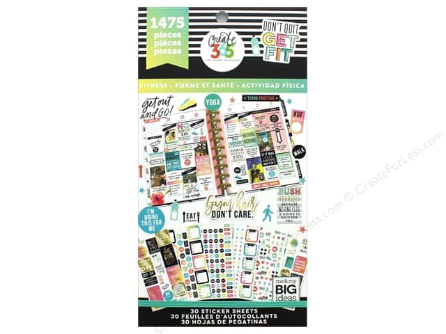 Me&My Big Ideas Collection Create 365 Happy Planner Sticker Value Pack Work It Out