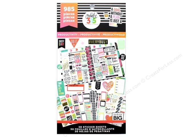 Me&My Big Ideas Create 365 Happy Planner Sticker Value Pack Productivity