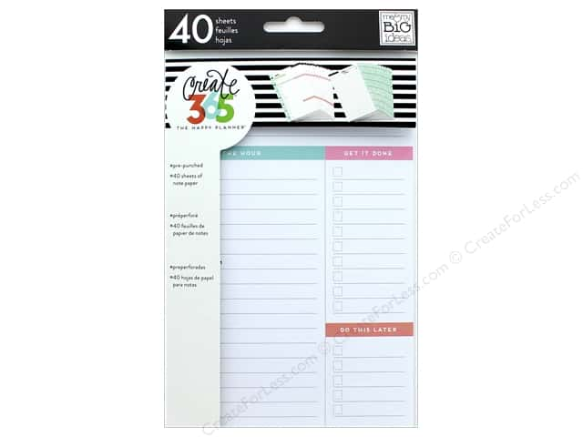 Me&My Big Ideas Collection Create 365 Happy Planner Filler Paper Mini Daily