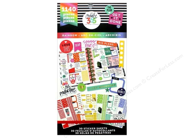Me&My Big Ideas Create 365 Happy Planner Sticker Value Pack Classic Color Way