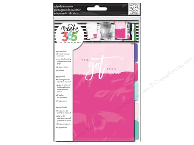 Me&My Big Ideas Collection Create 365 Happy Planner 6 Month Extension Pack Mini
