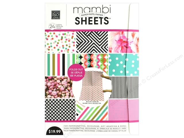 "MAMBI Sheets Paper Pad 18.3""x 25.8"" Vertical Peony"