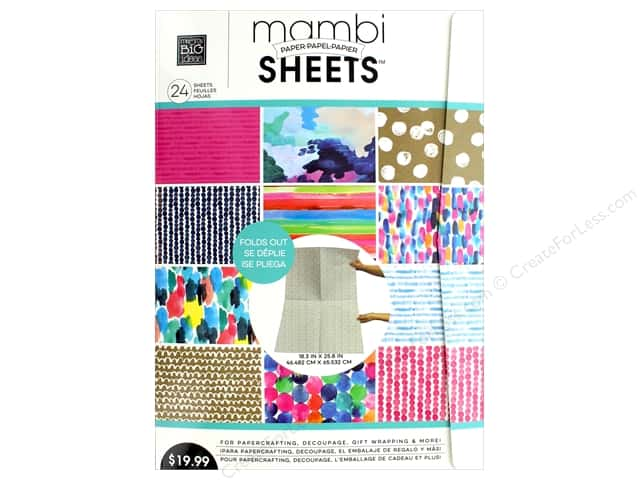 """MAMBI Sheets Paper Pad 18.3""""x 25.8"""" Vertical Paint The Town"""
