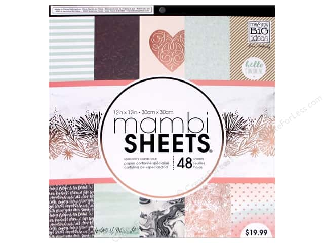 "Me&My Big Ideas Paper 12""x 12"" Pad Specialty Rose Marble"