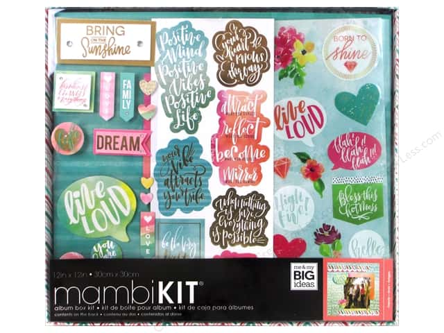 Me&My Big Ideas Album Kit Box Soft Watercolor