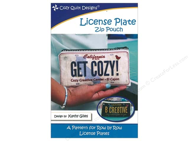 Cozy Quilt Designs License Plate Zipper Pouch Pattern