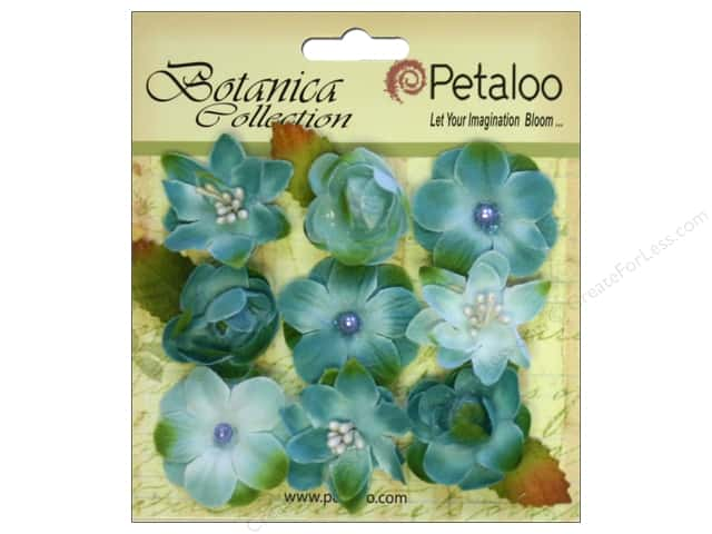 Petaloo Botanica Collection Baby Blooms Teal 9pc