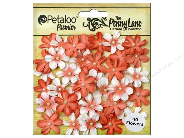 Petaloo Penny Lane Mini Pearl Daisies Antique Peach