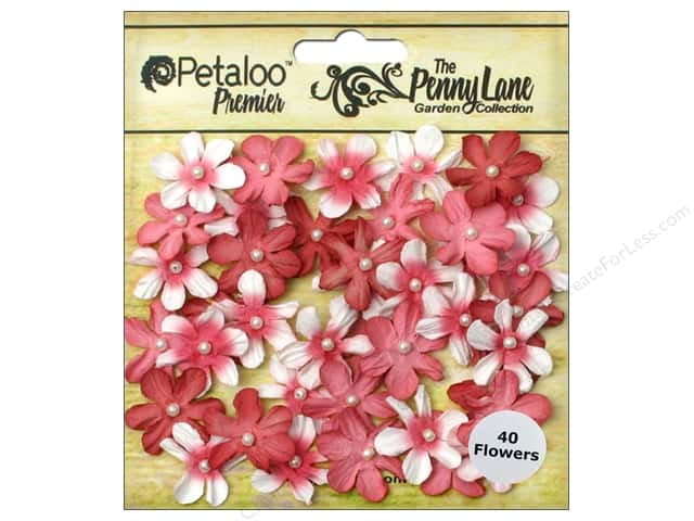 Petaloo Penny Lane Mini Pearl Daisies Antique Red