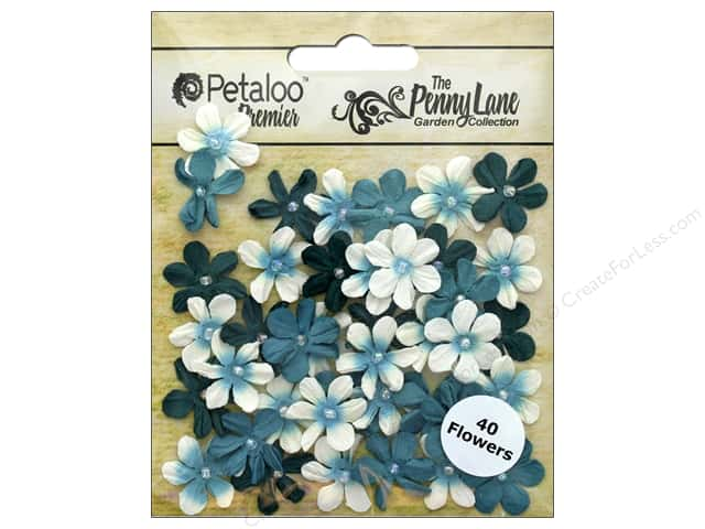 Petaloo Penny Lane Mini Pearl Daisies Teal