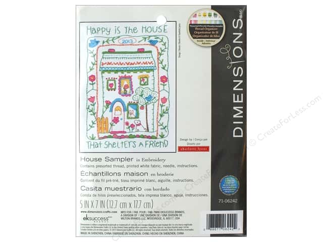 """Dimensions Embroidery Kit 5""""x 7"""" House Sampler"""