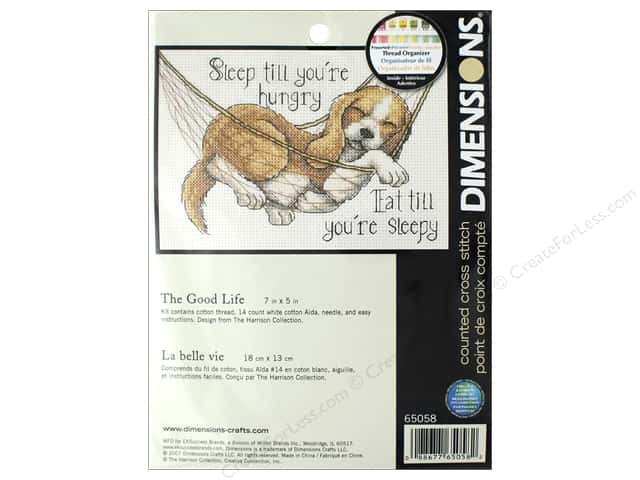 Dimensions Cross Stitch Kit 7 in. x 5 in.The Good Life