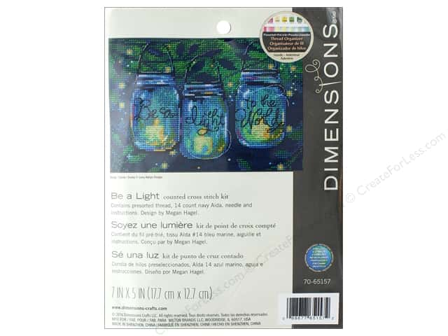 Dimensions Cross Stitch Kit 7 in. x 5 in.  Be A Light