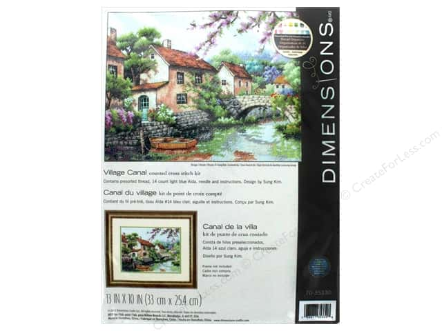 "Dimensions Cross Stitch Kit 13""x 10"" Village Canal"