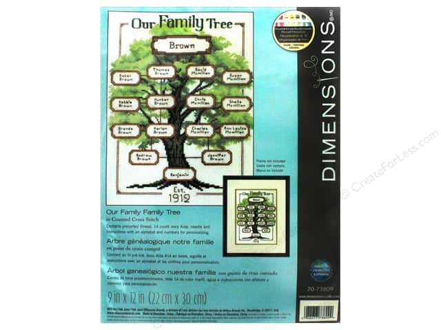 "Dimensions Cross Stitch Kit 9""x 12"" Our Family Tree"