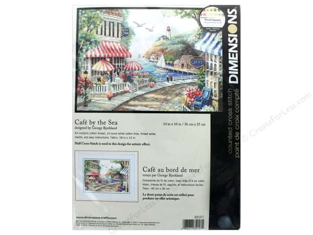 "Dimensions Cross Stitch Kit 14""x 10"" Cafe By The Sea"