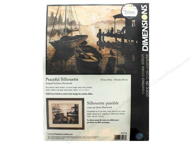 "Dimensions Cross Stitch Kit 13""x 10"" Peaceful Silhouette"