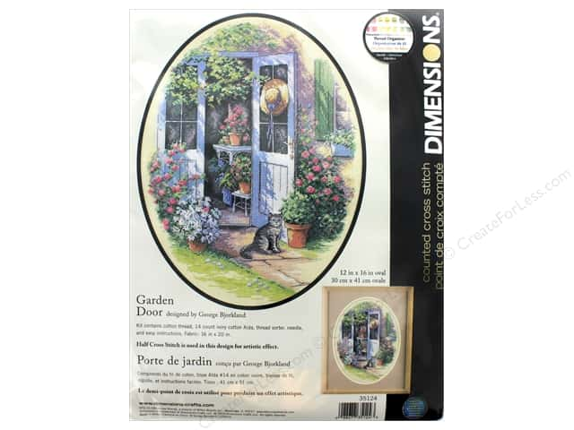 "Dimensions Cross Stitch Kit 12""x 16"" Garden Door"
