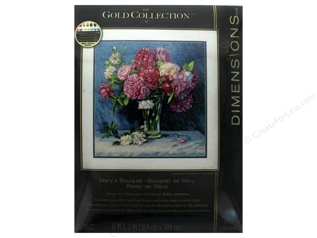 "Dimensions Cross Stitch Kit Gold Collection 12""x 12"" Mary's Bouquet"