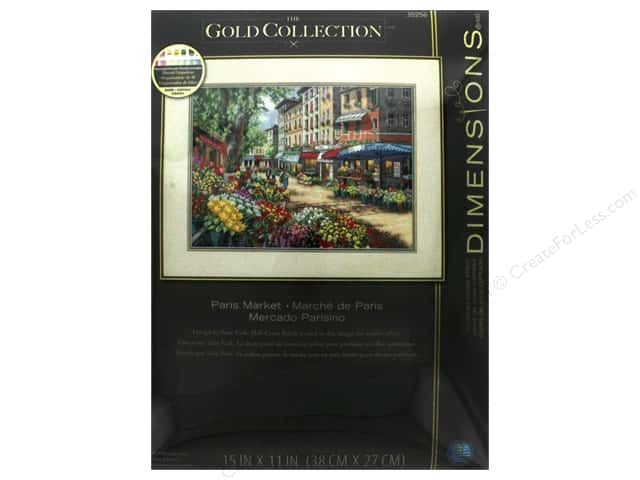 "Dimensions Cross Stitch Kit Gold Collection 15""x 11"" Paris Market"