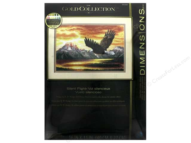 "Dimensions Cross Stitch Kit Gold Collection 16""x 11"" Silent Flight"