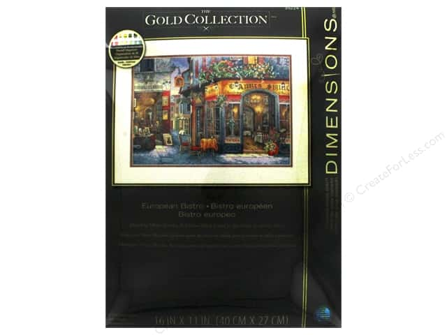 "Dimensions Cross Stitch Kit Gold Collection 16""x 11"" European Bistro"