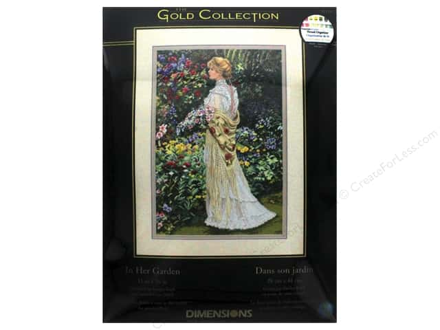 "Dimensions Cross Stitch Kit Gold Collection 11""x 16"" In Her Garden"
